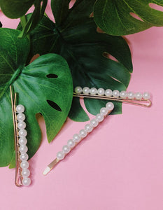FAUX PEARL BOBBY PIN SET
