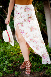 CAMILLE FLORAL WRAP SKIRT