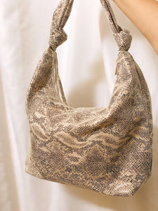 STRICTLY BUSINESS OVERSIZED SNAKE TOTE