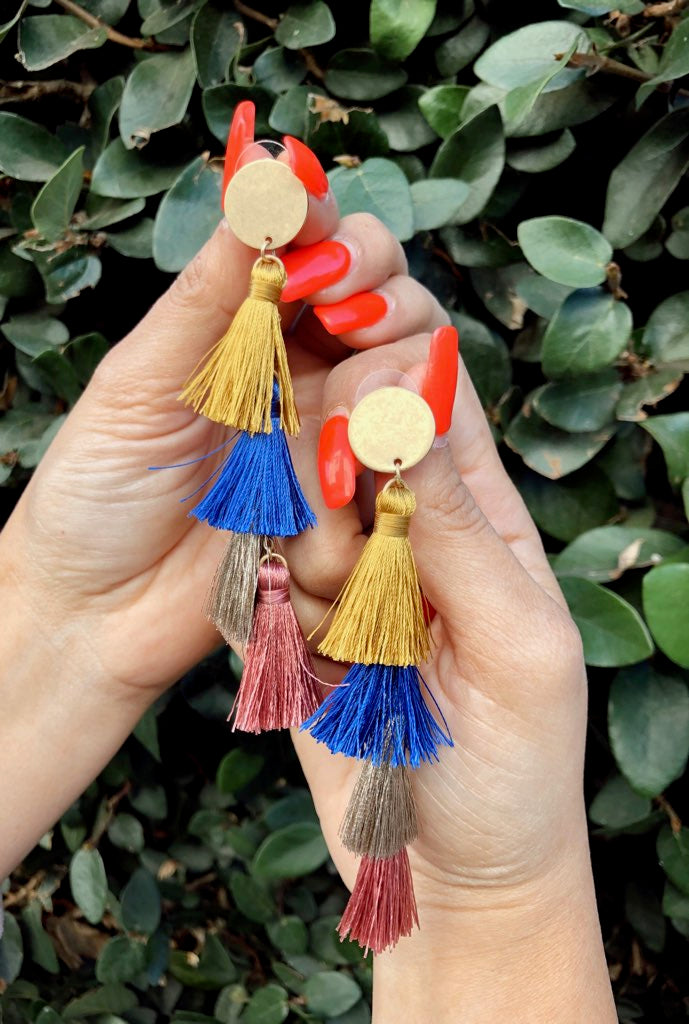 ROYAL TIER TASSEL EARRINGS
