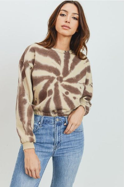BLUR THE LINES TIE DYE SWEATER