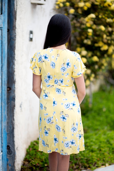 SUNDAY'S BEST BLUE FLORAL DRESS