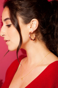 GOLD HALF HOOPS EARRINGS