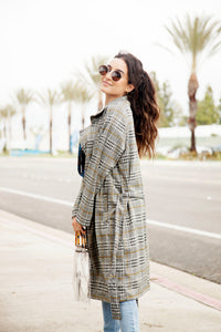MANCHESTER PLAID TRENCH COAT