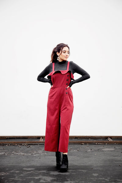 DELANY STRIPED PALAZZO JUMPSUIT - FINAL SALE