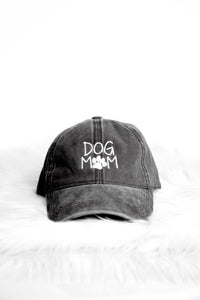 DOG MOM ACID WASH DAD CAP (BLACK)