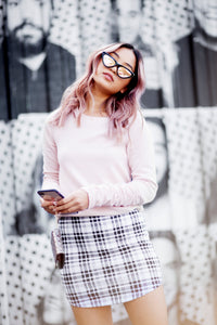 MAD ABOUT PLAID MINI SKIRT