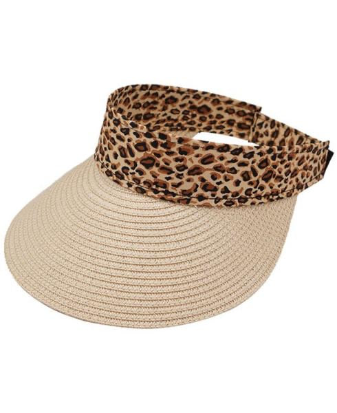 WILD THOUGHTS LEOPARD SUN VISOR - NATURAL