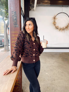 COFFEE DATE LEOPARD SWEATER