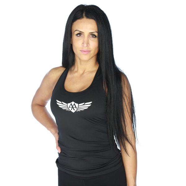 Wings Logo Racerback - Black