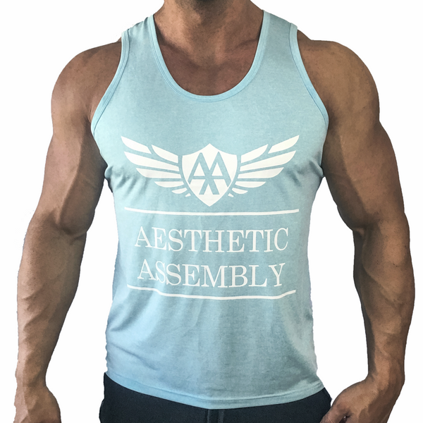Aesthetic Assembly Signature Mens Tank - Heather Blue