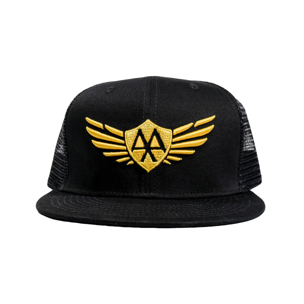 Gold Wings Mesh Hat