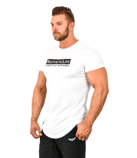 Mens AestheticLife Signature Crew - White