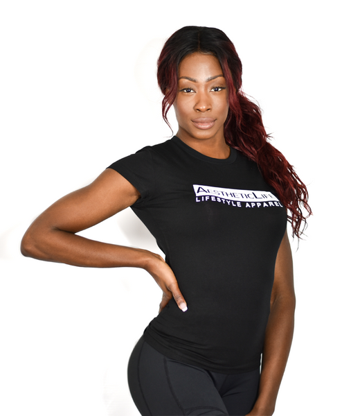 Womens AestheticLife Signature Crew - Black