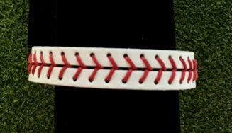 Baseball Stitch Leather Snap Bracelet