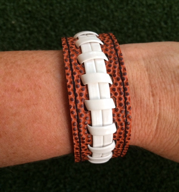 Football Cuff Stitch Snap Bracelet