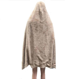 Adult Soccer Hooded Blanket Cotton/Sherpa
