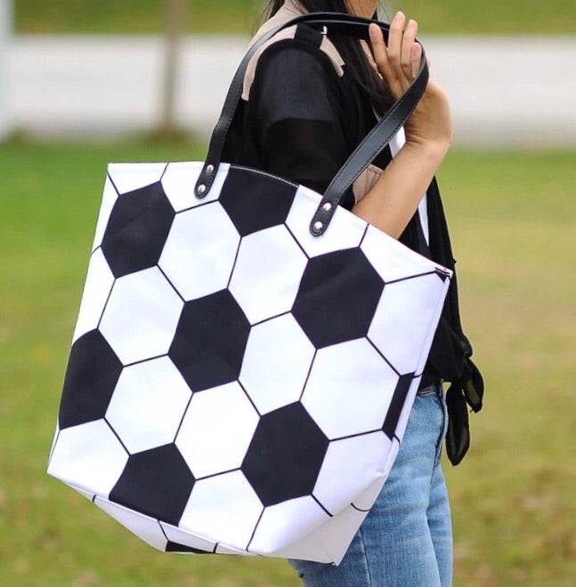 Oversize Soccer Canvas Bag Tote