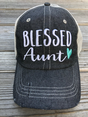 Blessed Aunt Embroidered Hat Cap