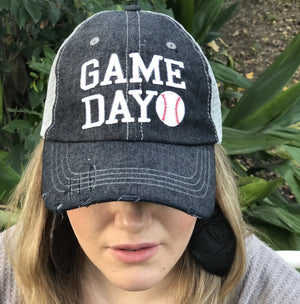 Game Day Baseball Embroidered Hat