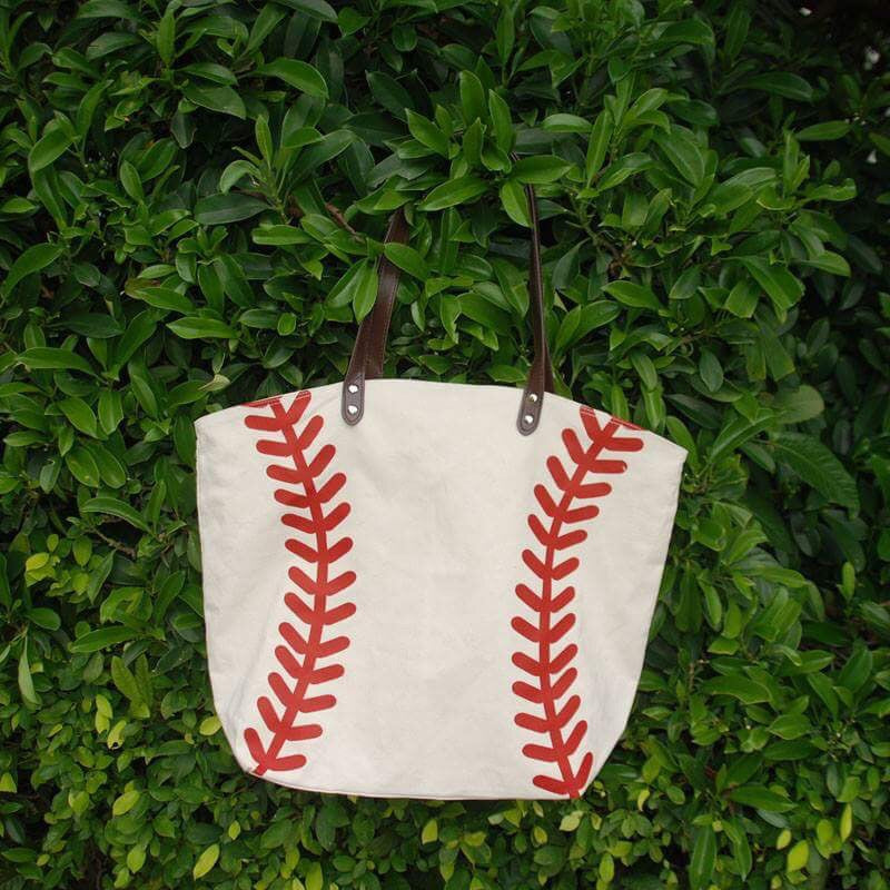 Baseball Canvas Bag Tote