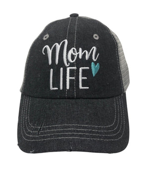 Mom Life Embroidered Hat Cap
