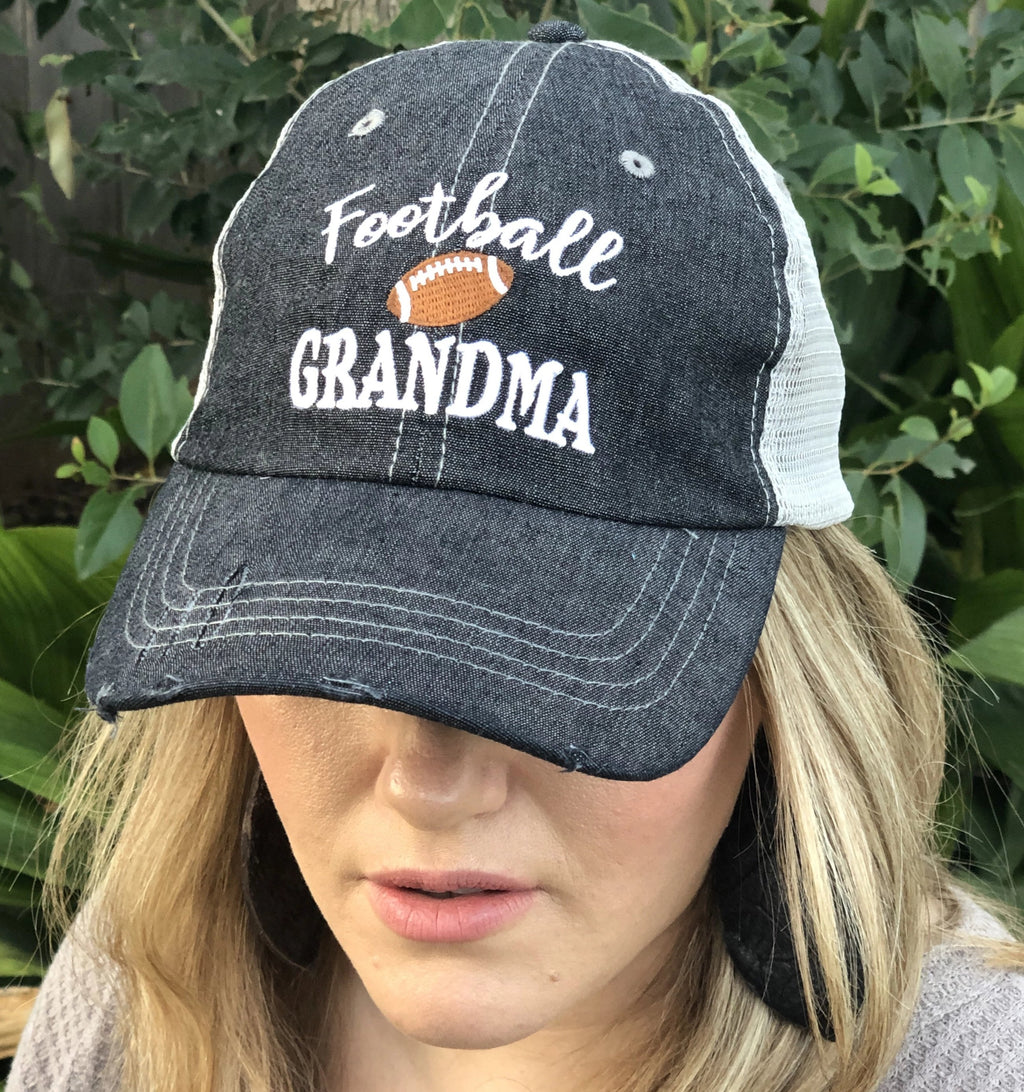 Football Grandma Mesh Embroidered MESH Hat Trucker Hat Cap