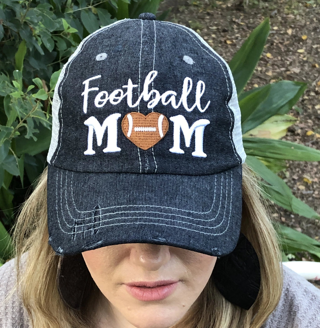 Football MOM Mesh Embroidered MESH Hat Football Mom Trucker Cap Trucker Hat