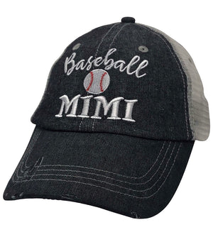 Baseball Mimi Grandma Mesh Embroidered MESH Hat Trucker Hat Cap