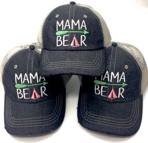 Mama Bear Embroidered Hat Cap