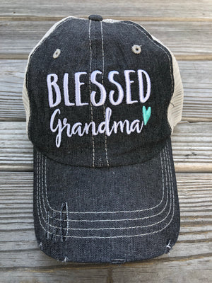 Blessed Grandma Embroidered Hat Cap Grandma Gift Mothers Day Gift