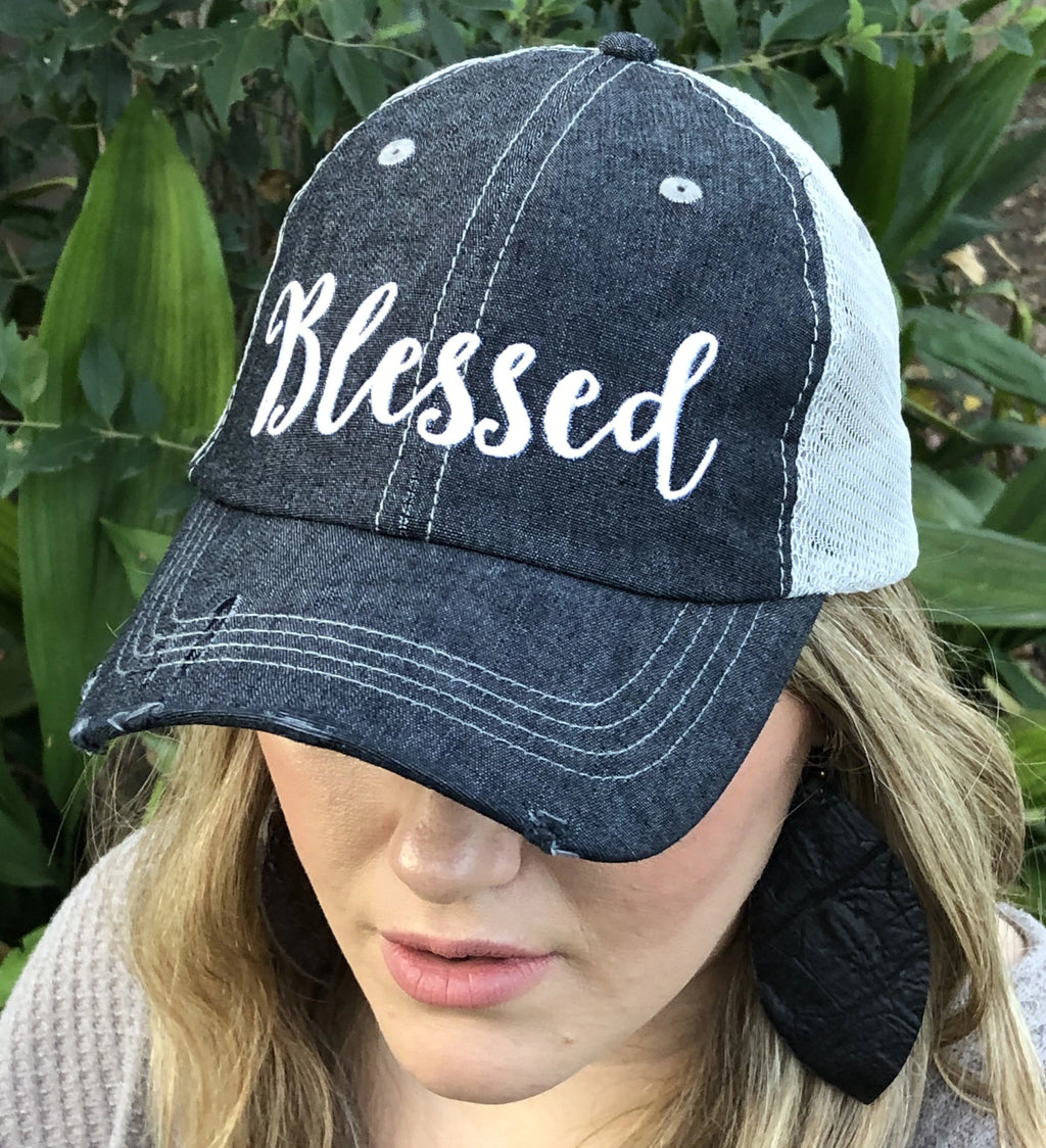 Blessed Embroidered Hat Cap