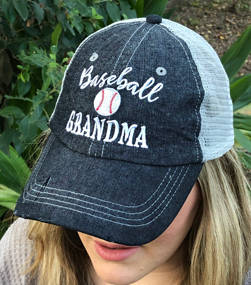 Baseball Grandma Mesh Embroidered MESH Hat Trucker Hat Cap