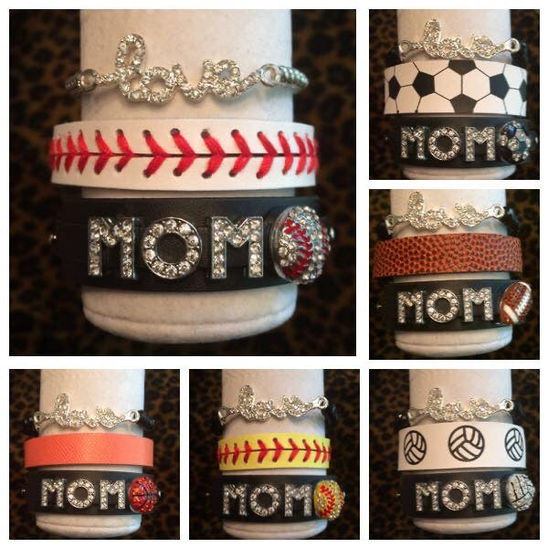Mom LOVE Stack Bracelet Jewlery Set of Three