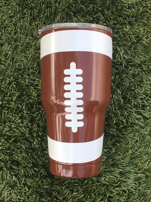 30 oz Football Stainless Cup