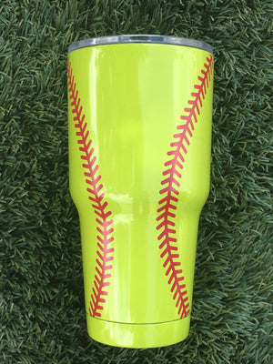 30 oz Softball Stainless Cup