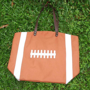Oversize Football Canvas Bag Tote