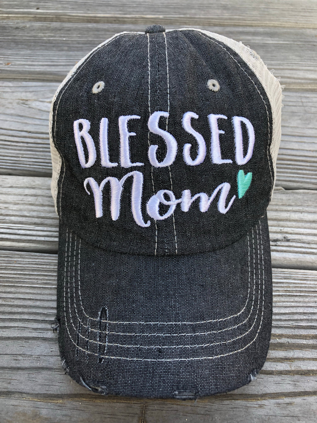 Blessed Mom Embroidered Hat Cap