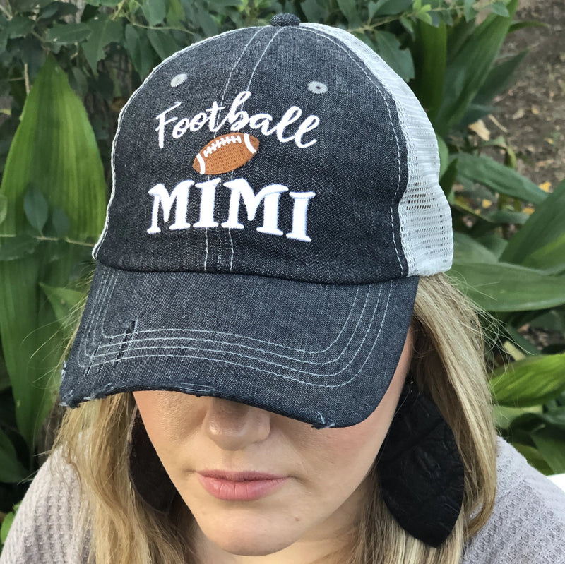 Football MIMI Grandma Mesh Embroidered Hat
