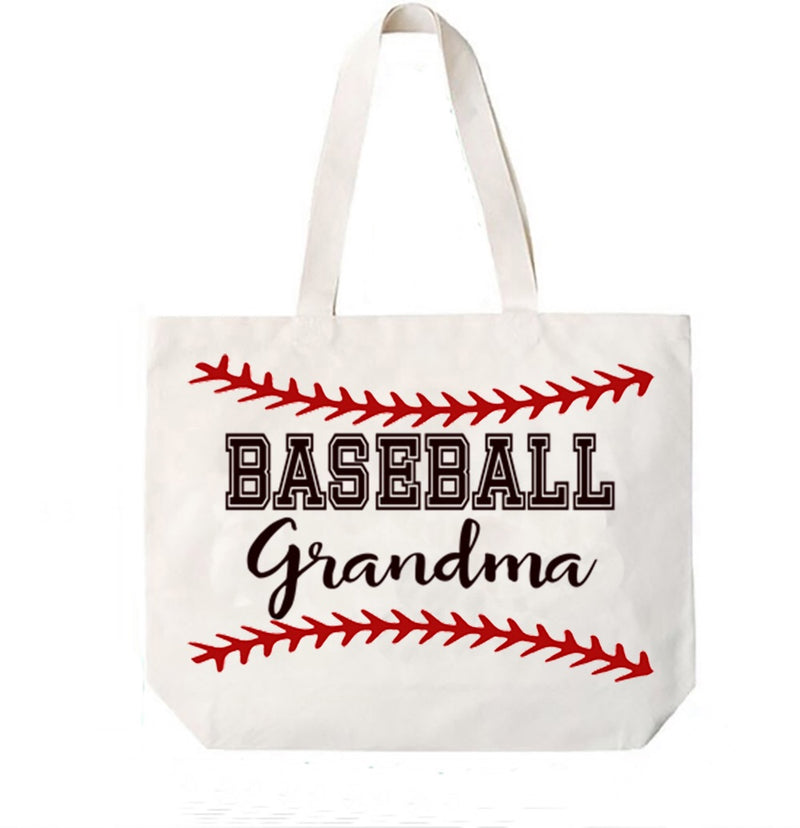 Baseball Grandma Canvas Bag Tote Grandma