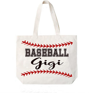 Baseball Gigi Canvas Bag Tote Grandma
