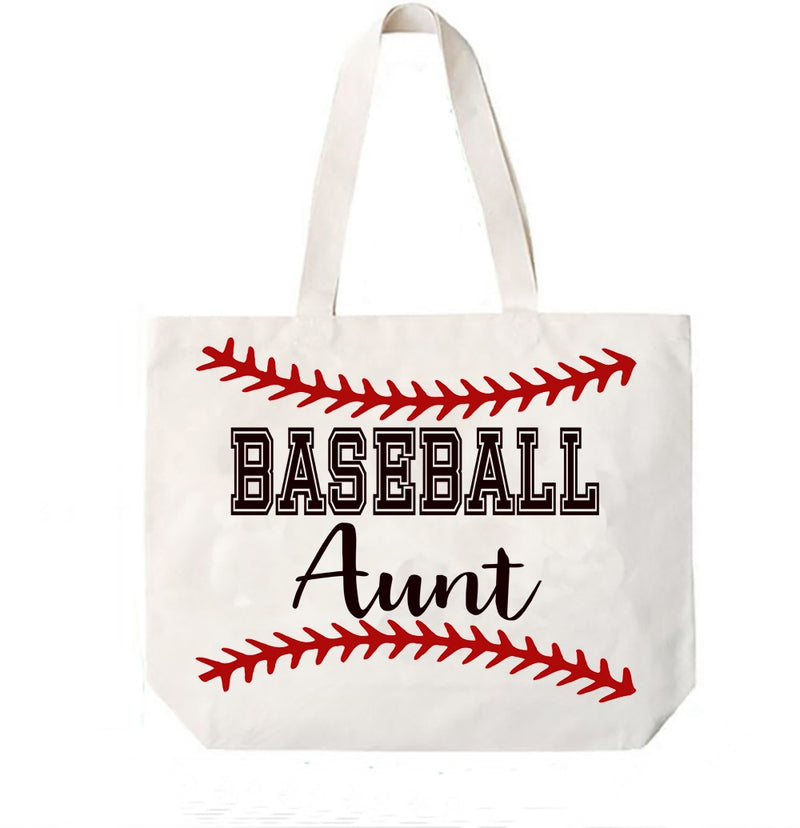 Baseball Aunt Canvas Bag Tote