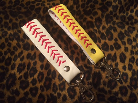 Baseball or Softball Stitch Keychain Gift Idea