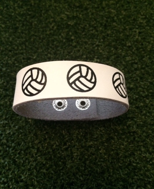 Volleyball Leather Snap Bracelet