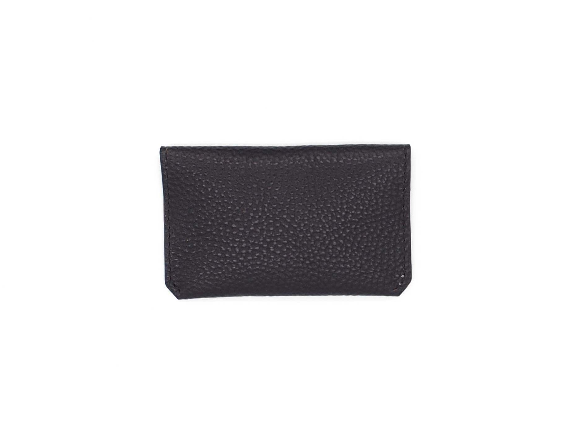 Bodega- Envelope Wallet In Pebbled Black