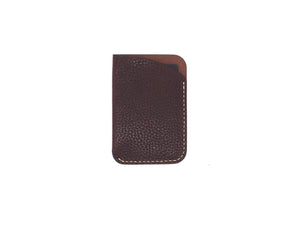 Leeway - Card Sleeve in Pebbled Burgundy