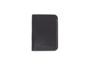 Royale - Compact Bi-fold In Pebbled Black