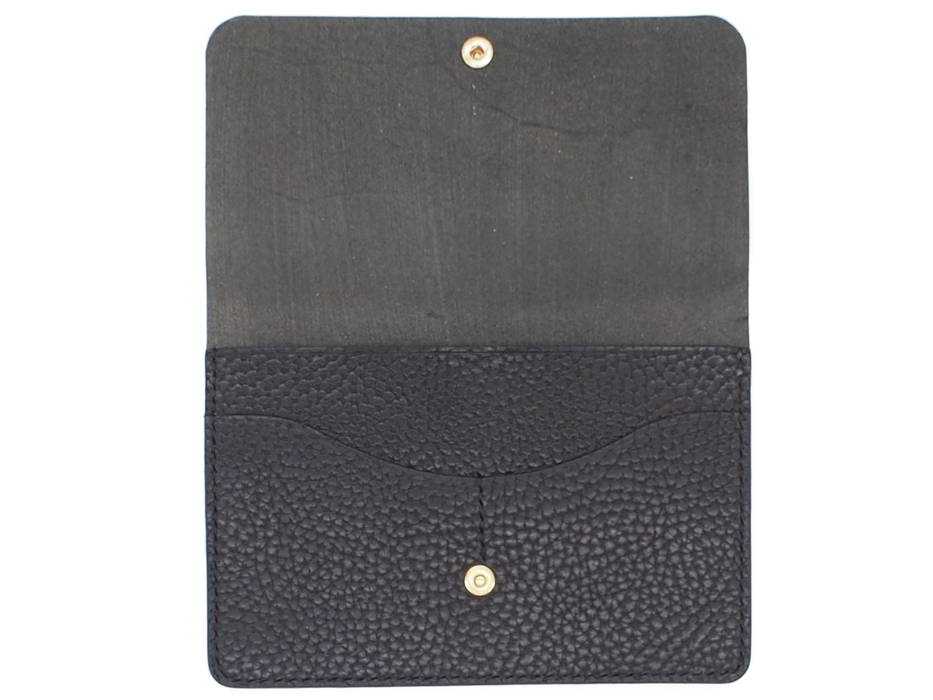 Wanderlust - Snap Passport Wallet In Pebbled Black