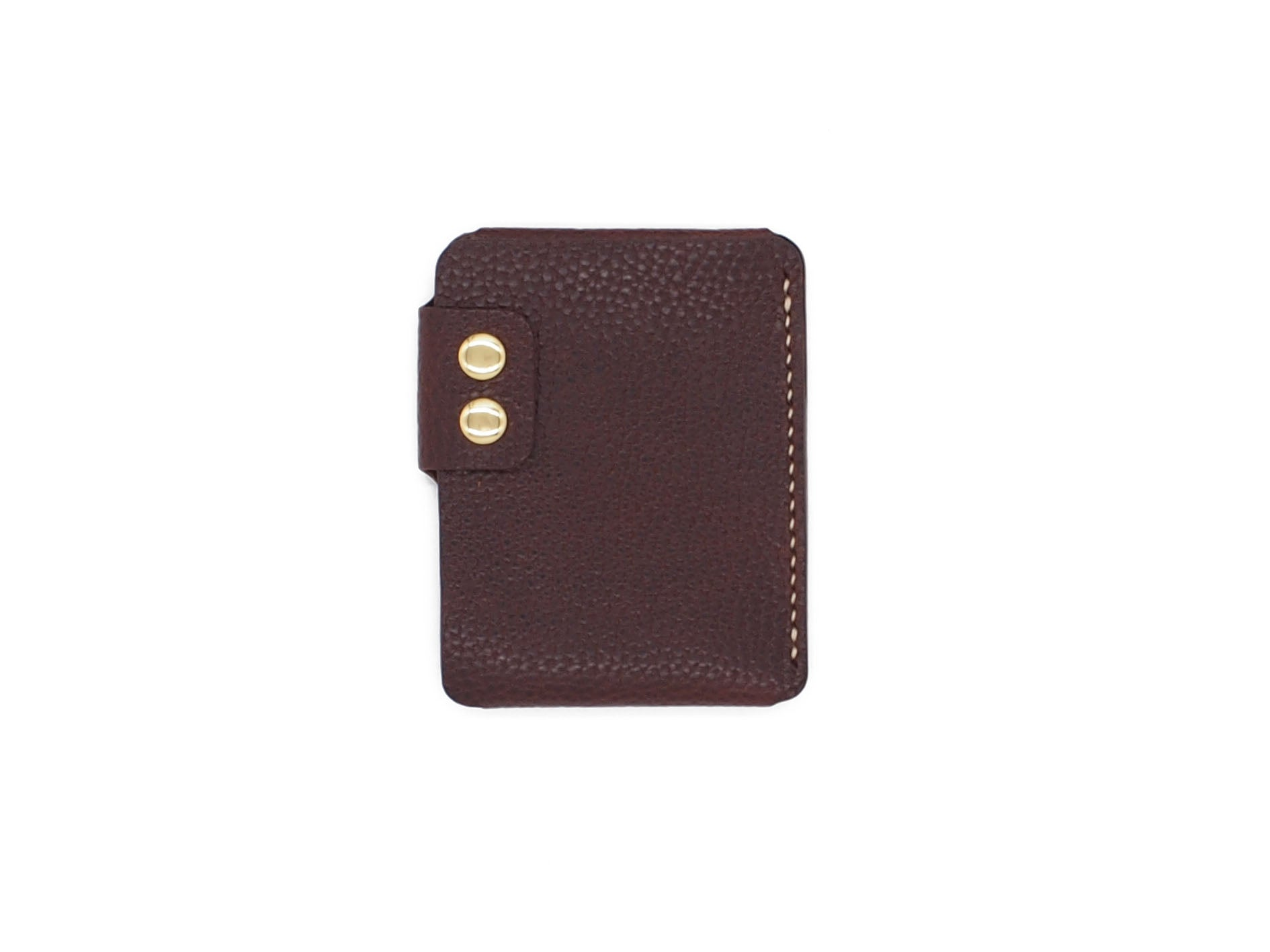 Sentry - Minimalist Wallet In Pebbled Burgundy