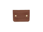 Utility Pocket - Snap Pouch Wallet In Pebbled Brown